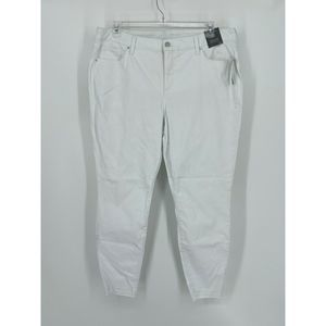 Limited Mid Rise Skinny Ankle Jeans White 18W NWT